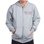 Support Baseball Bite A Yanke Zip Hoodie