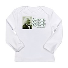 "Frederick Douglass ""Agitate!"" Long Sleeve Infant T"
