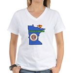 ILY Minnesota Women's V-Neck T-Shirt