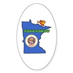 ILY Minnesota Sticker (Oval 10 pk)