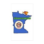 ILY Minnesota Sticker (Rectangle 50 pk)