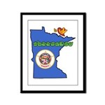 ILY Minnesota Framed Panel Print