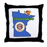 ILY Minnesota Throw Pillow