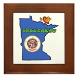 ILY Minnesota Framed Tile