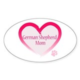 Pug Mom Oval Sticker (50 pk)