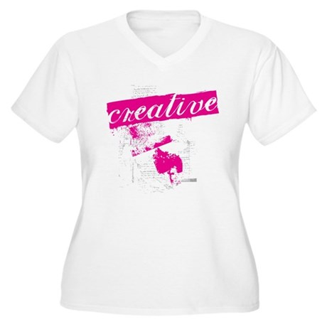 creative Women's Plus Size V-Neck T-Shirt