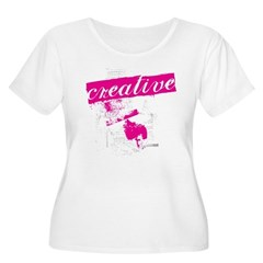 creative Women's Plus Size Scoop Neck T-Shirt