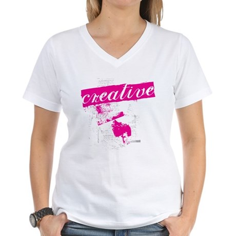 creative Women's V-Neck T-Shirt