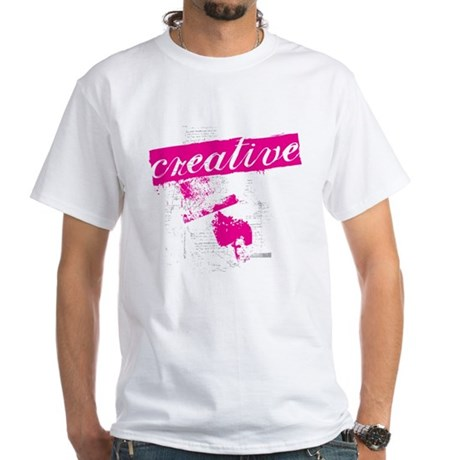 creative White T-Shirt