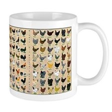 96 Roosters and Hens Small Mug