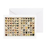 96 Roosters and Hens Greeting Card