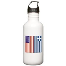 US and Greece Water Bottle