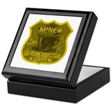 Miner Caffeine Addiction Keepsake Box