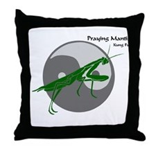 Praying Mantis Kung Fu Logo Throw Pillow