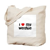 I * my Welshie Tote Bag