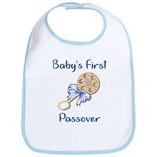 Baby's First Passover Bib/Blue