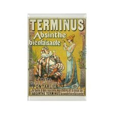 Terminus Absinthe Bienfaisante Rectangle Magnet