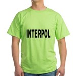 INTERPOL Police (Front) Green T-Shirt