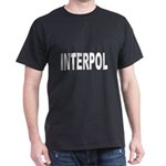 INTERPOL Police (Front) Black T-Shirt