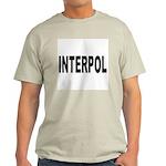 INTERPOL Police Ash Grey T-Shirt