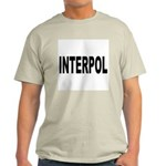 INTERPOL Police (Front) Ash Grey T-Shirt