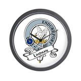 Lindsay Clan Badge Wall Clock