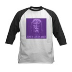 Jesus Loves You! Kids Baseball Jersey
