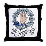 Lamont Clan Badge Throw Pillow