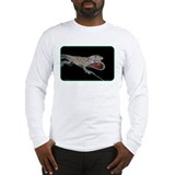 Anole Lizard on Black Bkgrnd Long Sleeve T-Shirt