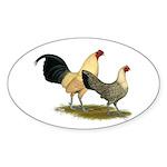 OE Bantams Cream Buttercup Sticker (Oval 50 pk)