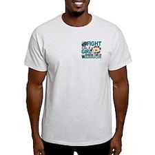 Fight Like A Girl Ovarian Cancer T-Shirt
