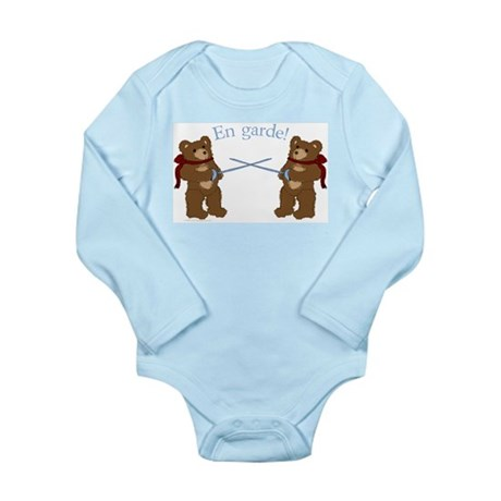 Teddy Bear Fencers Long Sleeve Infant Bodysuit