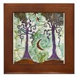 Two Trees Framed Tile