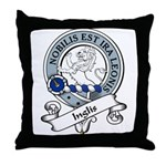 Inglis Clan Badge Throw Pillow