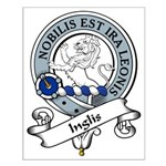 Inglis Clan Badge Small Poster