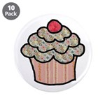 Country Calico Cupcake 3.5