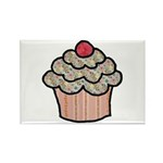 Country Calico Cupcake Rectangle Magnet (10 pack)