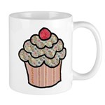 Country Calico Cupcake Mug