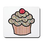 Country Calico Cupcake Mousepad