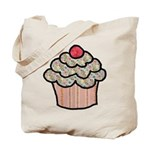Country Calico Cupcake Tote Bag