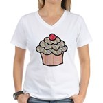 Country Calico Cupcake Women's V-Neck T-Shirt