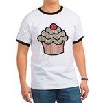 Country Calico Cupcake Ringer T