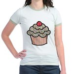 Country Calico Cupcake Jr. Ringer T-Shirt