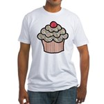 Country Calico Cupcake Fitted T-Shirt