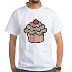 Country Calico Cupcake White T-Shirt