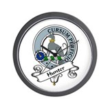 Hunter Clan Badge Wall Clock