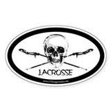 LAX Sticks & Skulls Decal