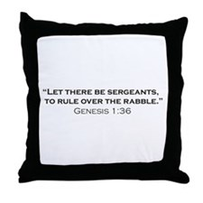 Sergeant / Genesis Throw Pillow