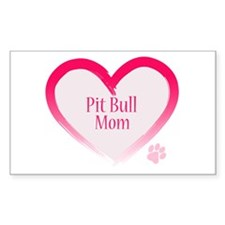Pug Mom Rectangle Decal