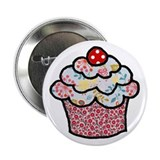 Holiday Sprinkle Cake 2.25&quot; Button